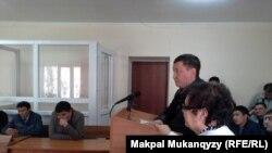 Лечащий врач Максата Керимбаева дает показания в суде. Алматы, 23 апреля 2014 года.