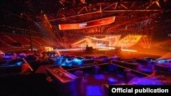 Ադրբեջան -- «Եվրատեսիլ» երգի մրցույթի համերգասրահը Բաքվում