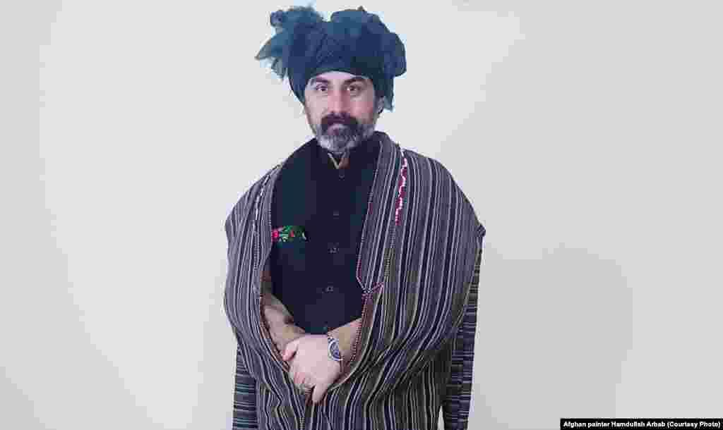 Afghan painter Hamdullah Arbab