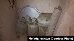 مرکز پروسس مواد مخدر در افغانستان