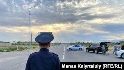 После взрыва дорога в Тараз была перекрыта