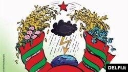 Карыкатура на герб РБ. Baltarusija па-літоўску - Беларусь