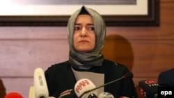 Ministrul turc al muncii Fatma Betul Sayan Kaya