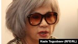 Гульжан Ергалиева, главный редактор сайта Guljan.org. Алматы, 10 декабря 2012 года.