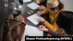 Онлайн-диктант з кримськотатарської мови у Сімферополі, 21 лютого 2021 роки (ілюстративне фото)