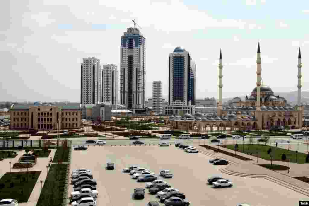 A view of central Grozny as it looks today.