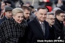 Анджей Дуда з дружиною у Вільнюсі, 22 листопада 2019 року