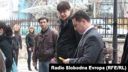 Премиерот Никола Груевски во посета на црквата Свети Димитрија.