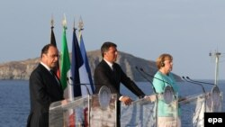 Лидеры Германии, Франции и Италии.