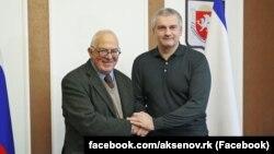 Сергій Аксенов на зустрічі з колишнім австралійським послом Тоні Кевіном, 3 січня 2018 року