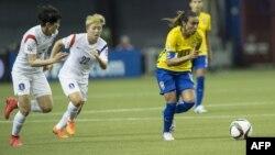 مارتا در بازی برزیل و کره جنوبی