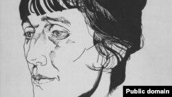 Anna Ahmatowanyň Ýuriý Annenkow tarapyndan çekilen portreti.