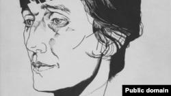 Анна Ахматова – рисунок Юрия Анненкова