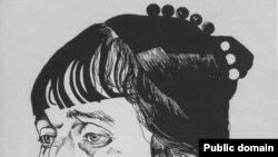 Портрет Анны Ахматовой работы Юрия Анненкова.