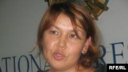 Джамиля Джакишева, жена Мухтара Джакишева. Алматы, 9 июня 2009 года.