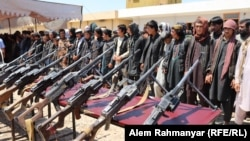 Surrendered Islamic State (IS) fighters in Jawzjan.