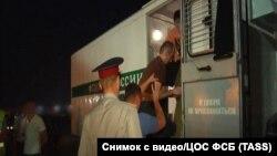 Аслан Яндиев во время этапирования