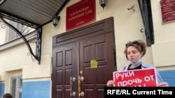 Protest în Moscova, la Tribunalul Basmanny unde se judecă procesul jurnaliștilor de la DOXA