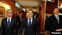 Ռուսաստանի, Հայաստանի եւ Ադրբեջանի նախագահների հանդիպումը Սոչիում, 5-ը մարտի, 2011թ.