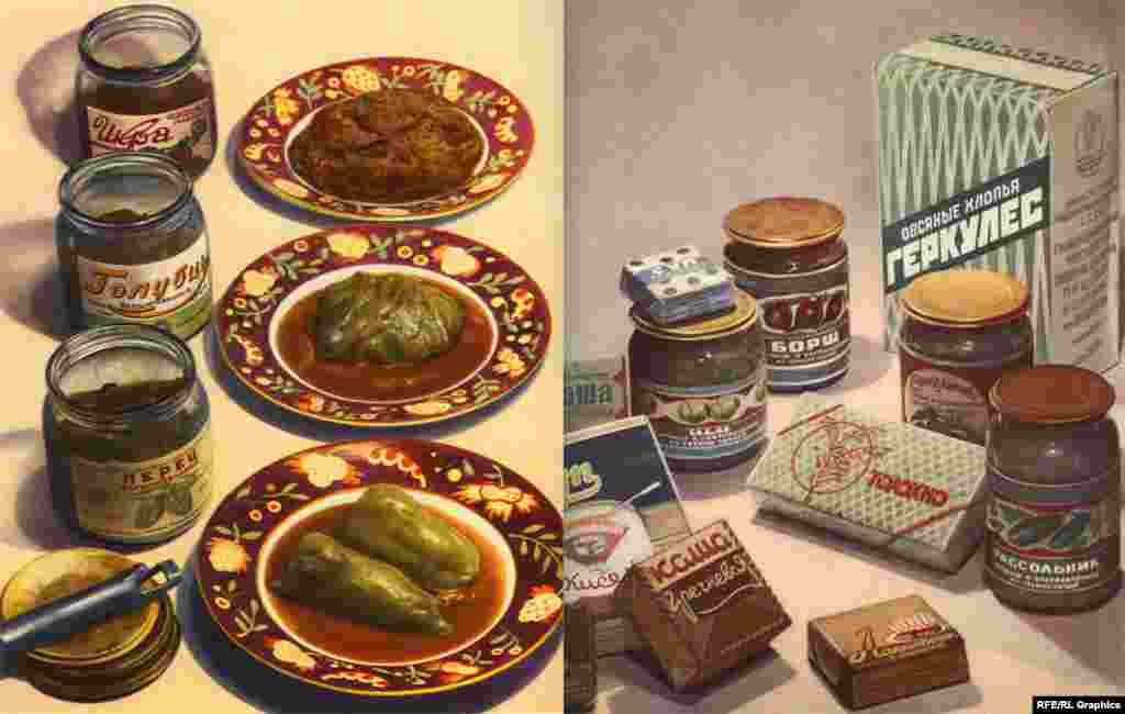 Graphics - Soviet Era Food Posters, undated