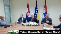 Predsjedništvo BiH sa Grabar-Kitarović i Vučićem u Mostaru 6. marta 2018.