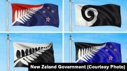 Четыре варианта новых флагов Новой Зеландии