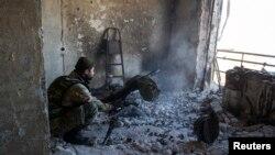Проросійський сепаратист на Донбасі, архівне фото