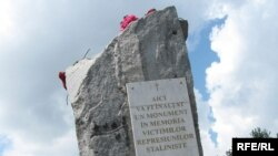 A would-be monument to the victims of Stalinism in Chisinau
