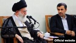 دیدار آیتالله خامنهای با رئیسجمهور و اعضای دولت/ دوم شهریور ۹۱