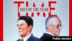 Люди 1983 года по версии журнала Time – Рональд Рейган и Юрий Андропов