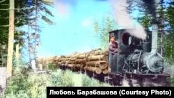 Грузовой поезд времен губернаторства Карафуто