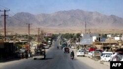 Pamje e një pjese të qytetit Tarin Kot në provincën Uruzgan në Afganistan