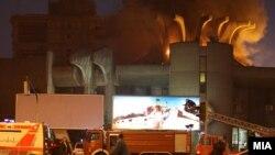 Zjarr në ndërtesën e Postës në Shkup