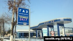 Uzbekistan - price of the gas in petrol station, 08Jan2012