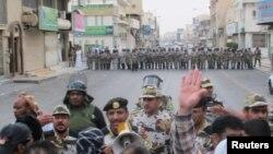 صحنهای از اعتراضات در منطقه قطیف در شرق عربستان