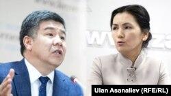 Депутаттар Алмамбет Шыкмаматов жана Аида Салянова.