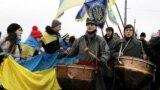 Під час відзначення Дня соборності України в Києві, 22 січня 2015 року