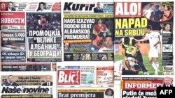 Naslovne strane štampe nakon utakmice Srbija - Albanija