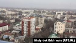 Өкмөт бирден-бир өнүгүп келаткан тармак катары курулушту көрсөтүп келет. Бишкек шаары.