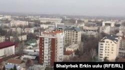 Многоэтажные дома в Бишкеке.