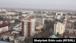Бишкектин борбордук бөлүгүндөгү жаңы түшкөн имараттар.