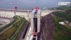 Как работает самый большой лифт-шлюз для кораблей высотой 113 м