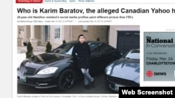 Публикация на канадском сайте о задержании уроженца Казахстана Карима Баратова в Онтарио.