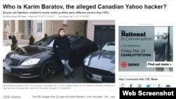 Публикации на канадских сайтах о задержании уроженца Казахстана Карима Баратова в Онтарио.