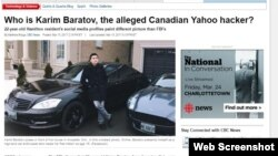 Қазақстан тумасы Кәрім Баратовтың ұсталғаны туралы ақпарат жариялаған канадалық CBC News сайтынан скриншот.