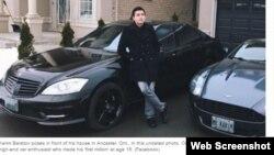 Канадалық БАҚ-тағы Қазақстаннан шыққан Карим Баратовтың ұсталғаны туралы ақпарат скриншотынан үзінді.