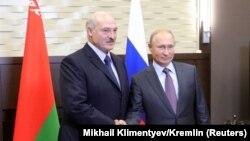 Олександр Лукашенко (ліворуч) і Володимир Путін. Сочі, 21 вересня 2018 року