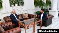 Скопје- претседателот на СДСМ и премиер Зоран Заев и лидерот на ДПА Мендух Тачи на средба за престојните локални избори, 28.07.2021
