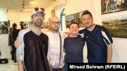 Kenan Spahić (drugi s lijeva) sa štićenicima Udruženja Ružičnjak, Mostar