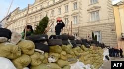 Баррикады во Львове, 24 марта 2014 года